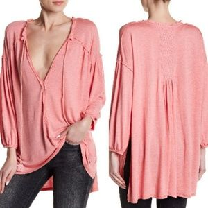 Free People We the Free Just a Henley In Rose